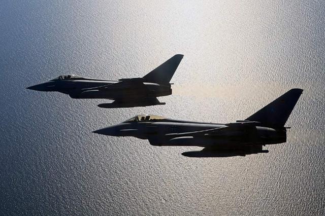 Viele Trainings-Flüge des Waffenlehrerkurses finden über der Ostsee statt. (Quelle: Luftwaffe/Stefan Petersen)