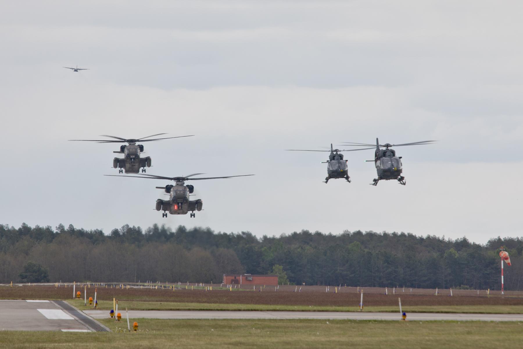 Hohe Geschwindigkeit, Reichweite, Mobilität und Flexibilität. Die Luftwaffe bringt das Kommando Spezialkräfte zum Geschehen. (Quelle: Luftwaffe/Johannes Heyn)