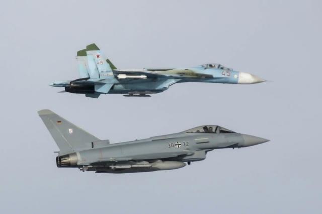 Bei den meisten A-Scrambles wurden russische Kampfjets abgefangen. Hier eine Suchoi Su-35 Flanker. (Quelle: Luftwaffe/PAO VAPB)