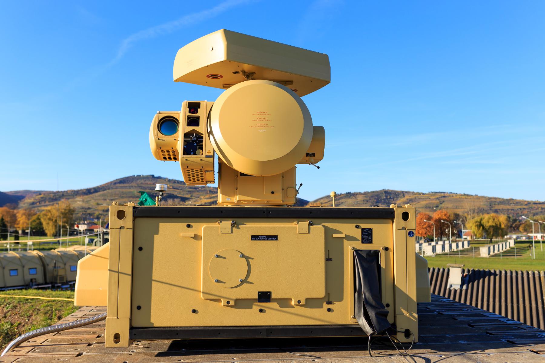 Das Auge von Mantis überwacht bald den Himmel über Camp Castor in Mali. (Quelle: Luftwaffe/Lars Koch) |