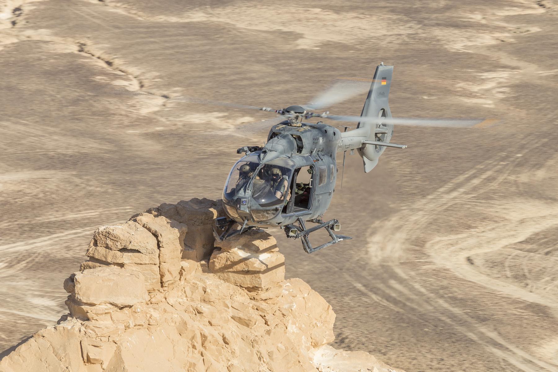 Anspruchsvoll für Mensch und Maschine: Die Hitzekampagne in Jordanien. (Quelle: Luftwaffe/Johannes Heyn)